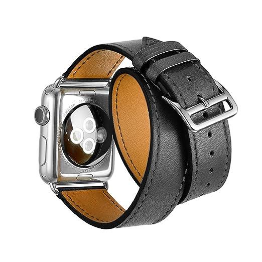 37 opinioni per Cinturino Apple Watch,SUNDAREE 38mm Apple Bracciale Vera Pelle Strap Wrist Band