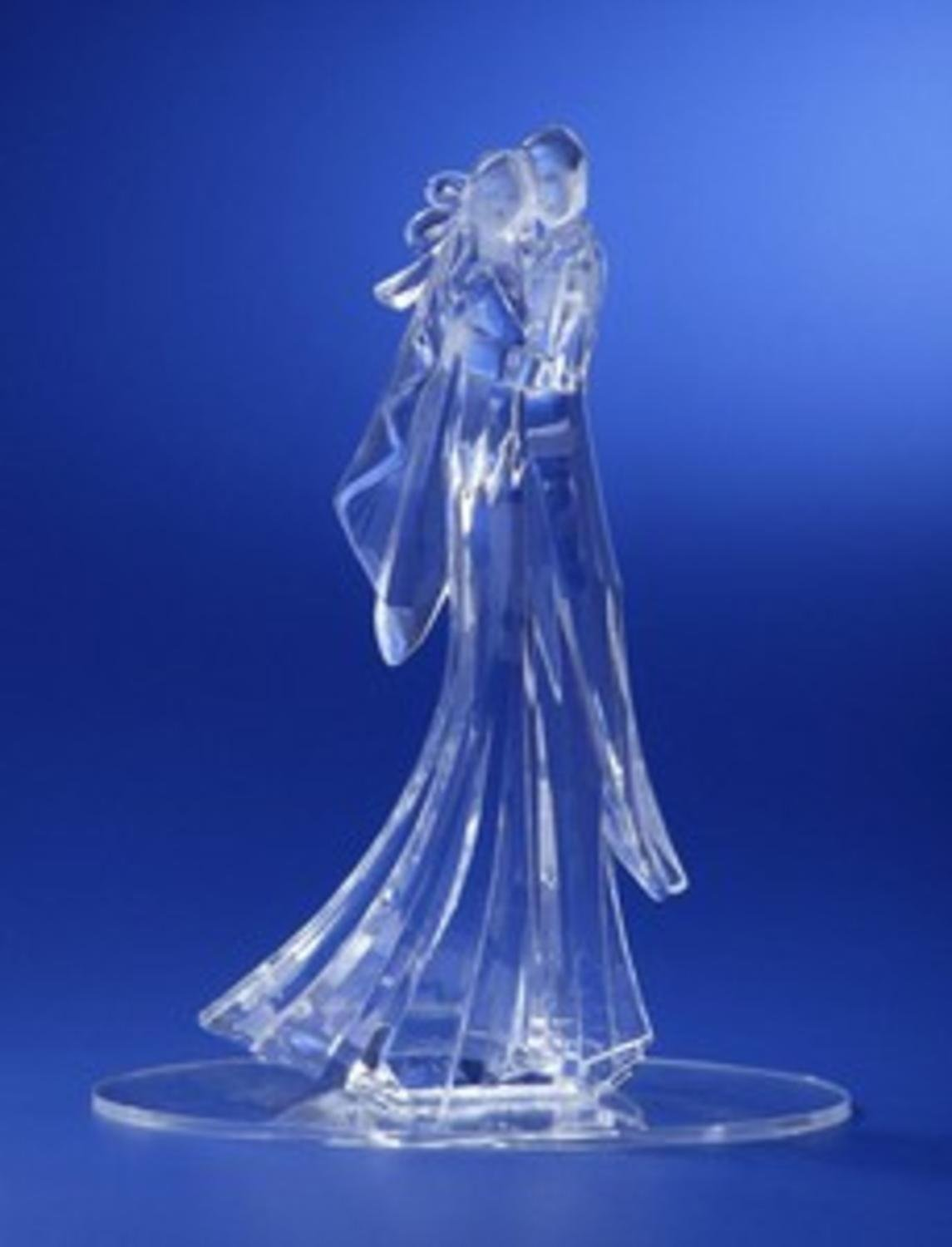 Pack of 4 Icy Crystal Wedding Bride and Groom Cake Topper 8.25''