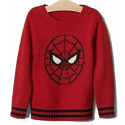 Baby Gap Boys Red Spiderman Crew Sweater 18-24 Months
