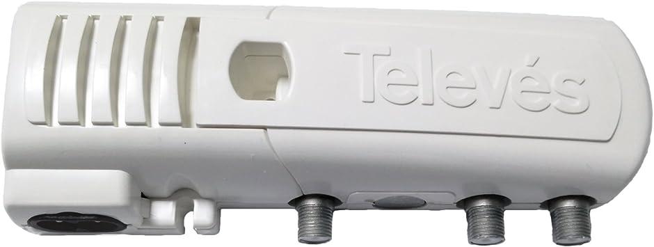 Televes 5519 - Amplificador vivienda uhf+vhf 105dbvs 2w