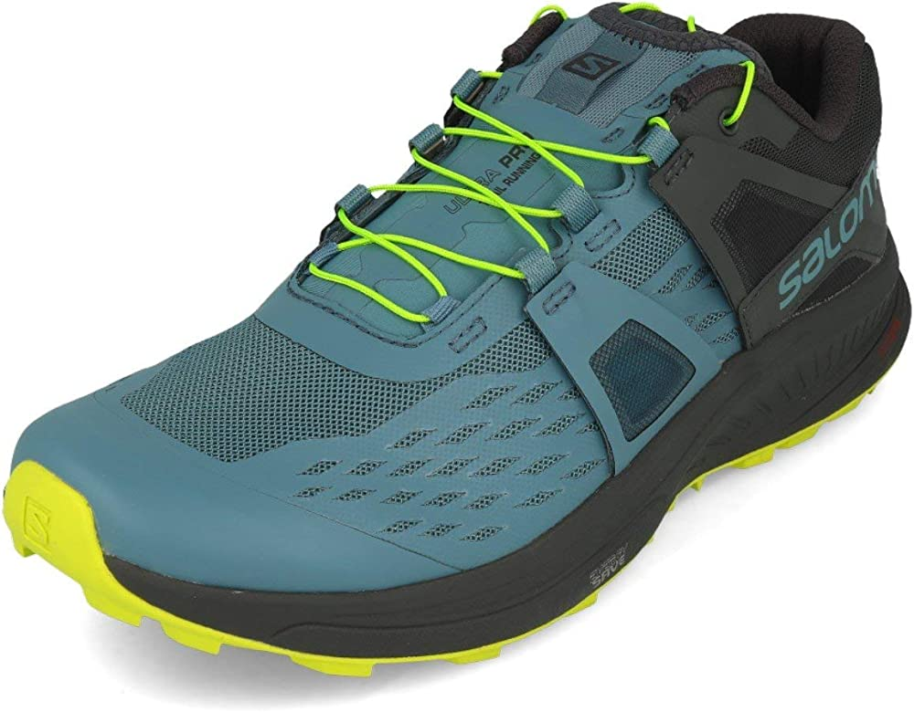 SALOMON Shoes Ultra/Pro, Zapatillas de Running para Hombre, Azul (Bluestone/Ebony/Acid Lime), 40.67 EU: Amazon.es: Zapatos y complementos