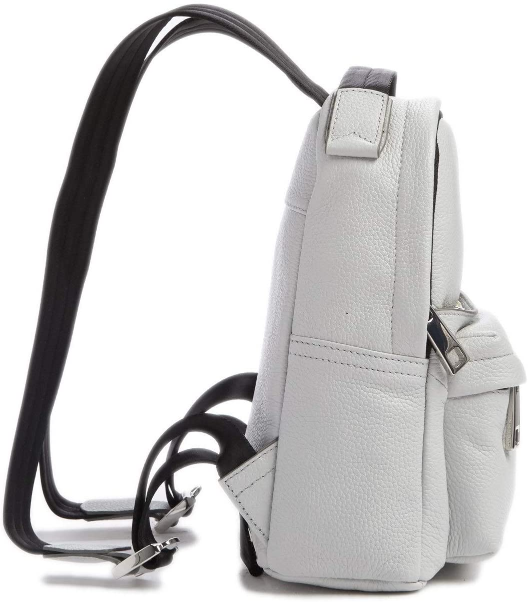 Marc Jacobs Varsity Pack Small Leather Backpack Light Grey
