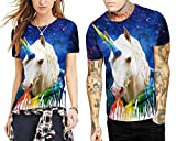Azuki T Shirts Hip-hop Big & Tall Starry Printed Couples Tees M