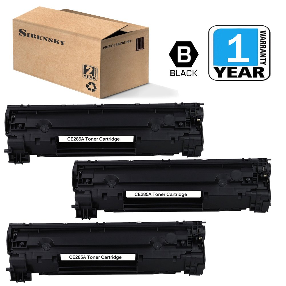 85A Toner 3 Pack Replacement Compatible for CE285A Laser Toner Cartridge (Black), by Sirensky Brand durable modeling