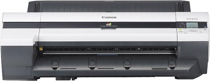 Canon imagePROGRAF iPF605 Color 2400 x 1200DPI A1 (594 x 841 mm) - Impresora de gran formato (2400 x 1200 DPI, GARO,HP-GL/2,HP-RTL, Negro, Azul, Cian, Magenta, Amarillo, A1 (594 x 841 mm),