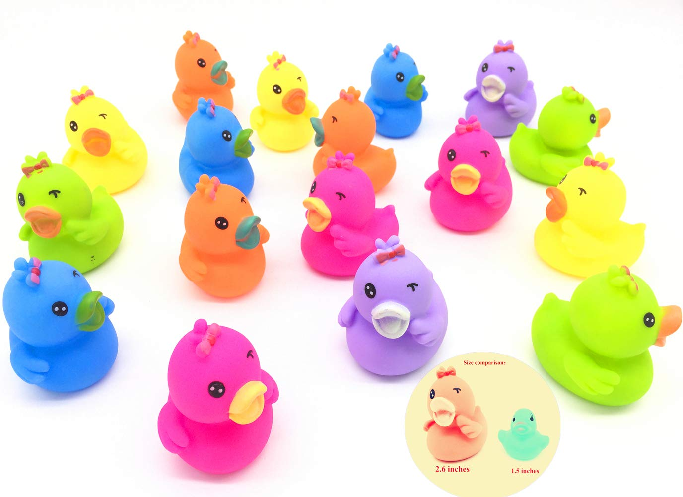 Guaishou Rubber Duck Ducky Duckie Bathing 6cm//2.6inch Baby Shower Party Pack of 18pcs