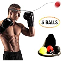 CELLTEK Boxing Fight Ball,3 Difficulty Level Boxing Reflex Balls with Headband, Boxing Punch Equipment Boxing to Improve Reaction and Speed for Training and Fitness