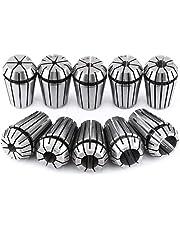 """10pcs/Set ER20 Spring Steel Collet Set for CNC Workholding Engraving Milling Lathe Tool 3mm, 1/8"""", 4mm, 5mm, 6mm, 1/4"""", 8mm, 10mm, 12mm, 1/2"""""""