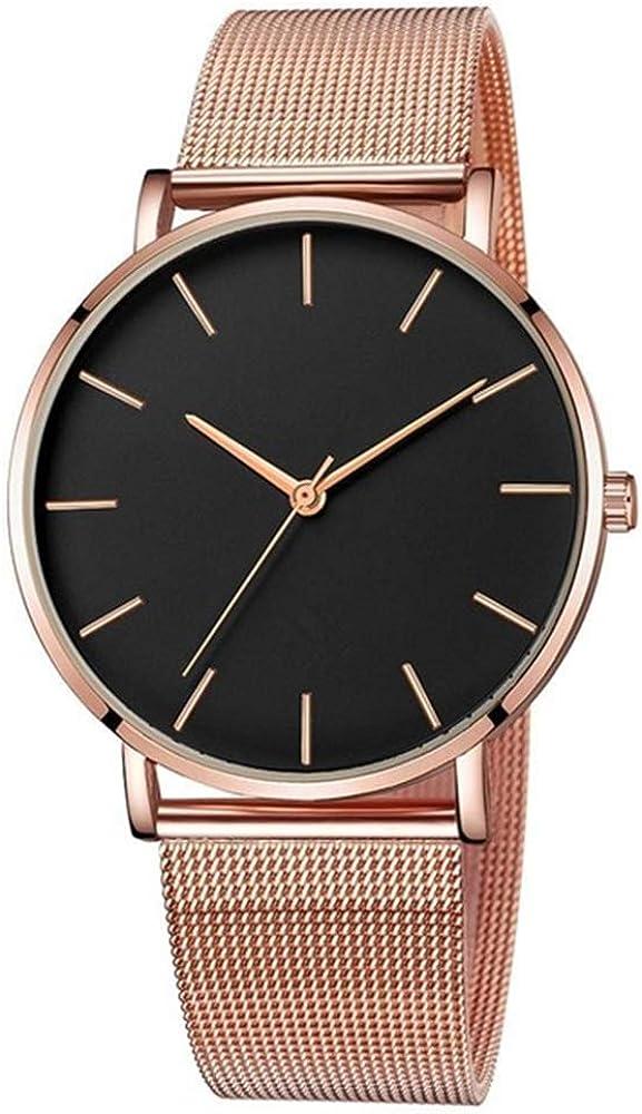 Reloj de Mujer 2020 Oro Ultra Delgado Minimalista Reloj de Mujer Reloj de Pulsera Deportivo Reloj de Acero Inoxidable