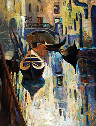Jplo9 #Jp London MACR2305 1/8In Thick High Definition Resolution Gloss Acrylic Venice Canal Oil Painting at 2 Ft Wide by 3Ft High