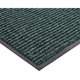 "NoTrax 109 Brush Step Entrance Mat, for Lobbies and Indoor Entranceways, 4' Width x 6' Length x 3/8"" Thickness, Hunter Green"