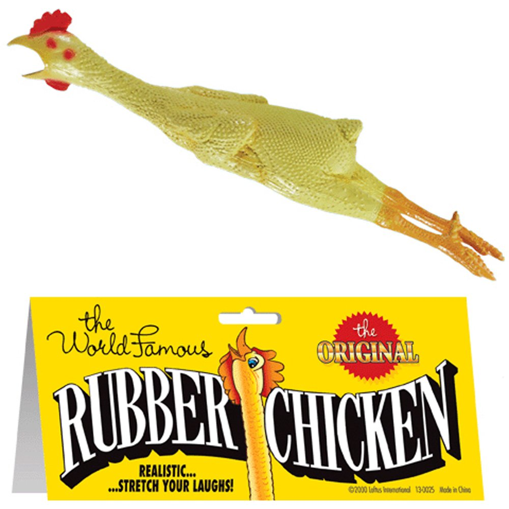 12 Pieces (1 Dozen) Bulk Lot Chickens / Original World Famous Novelty Yellow Rubber Chicken by MorganProducts (Image #1)