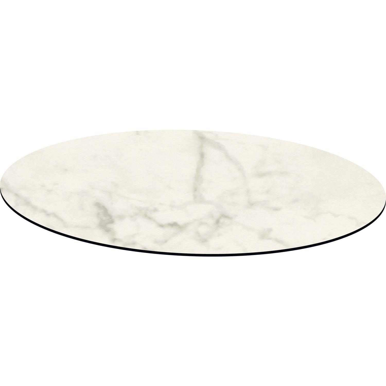 Topalit Smart Line diametro/design: bianco marmo marmo tavolo bianco, confezione da 1 58290070