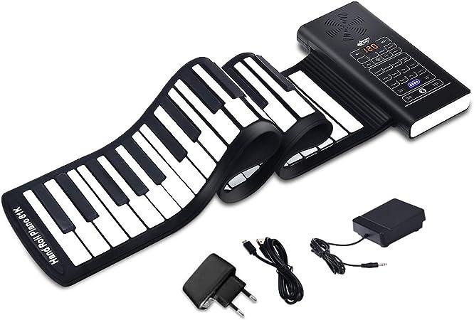 COSTWAY Teclado Piano Digital 61 Teclas Piano Roll Up ...