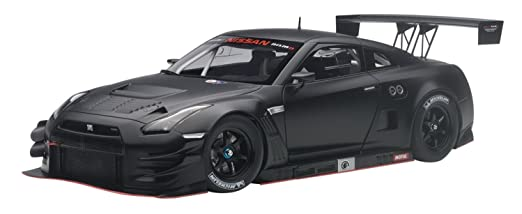 Amazon.com: Nissan GT-R Nismo GT3 Matt Black 1/18 by Autoart 81580 ...