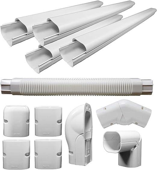 amazon.com: pvc decorative line cover kit for ductless mini split air  conditioners: home & kitchen  amazon.com