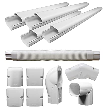 Pioneer Air Conditioner Decorative Pvc Line Cover Kit For Mini Split Air Conditioners And Heat Pumps   Wys Lcvr Kit by Pioneer Air Conditioner