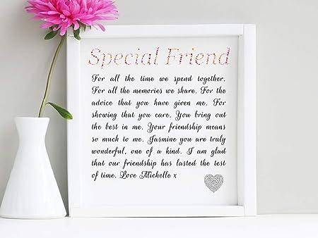 Placa decorativa con poema de la amistad Con atril expositor. En caja. Ideal para regalo.: Amazon.es: Hogar