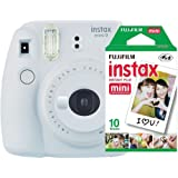 Câmera instantânea Fujifilm Instax Mini 9 Branco Gelo + Pack 10 fotos