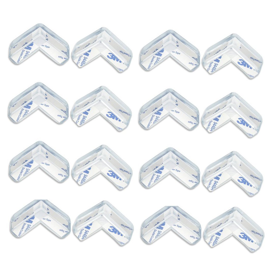 TraderPlus 4-Pack Clear Edge Cushion & Corner Guard Set - Baby Proofing, Home Safety Furniture Bumpe