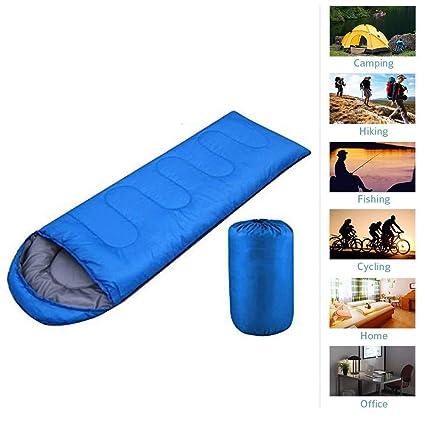 Ueasy 3 temporada ligero Envelope saco de dormir con capucha para Camping senderismo pesca senderismo Chilling