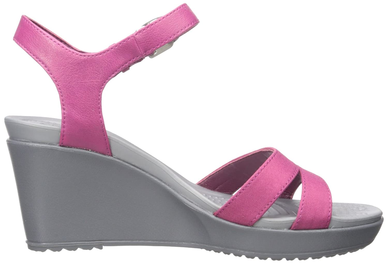 Crocs Women's Leigh II Ankle Strap Wedge Sandal, Berry, 2 UK: Amazon.co.uk:  Shoes & Bags