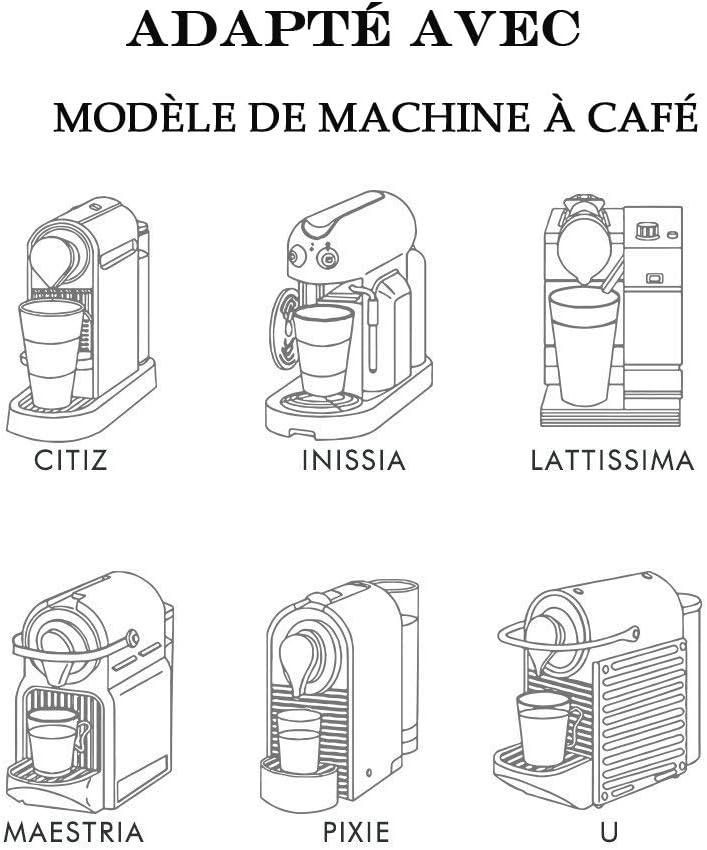 con cucchiaio da caff/è e pennello confezione da 6 capsule in capsule riutilizzabili compatibili con macchine da caff/è Poweka Capsule Ricaricabili per Nespresso