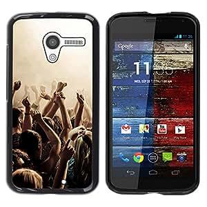 Paccase / SLIM PC / Aliminium Casa Carcasa Funda Case Cover - Music Party Punk - Motorola Moto X 1 1st GEN I XT1058 XT1053 XT1052 XT1056 XT1060 XT1055