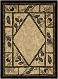 Rustic Lodge Wooded Pine Cone 8×10 Area Rug, 7'10×9'10 Review