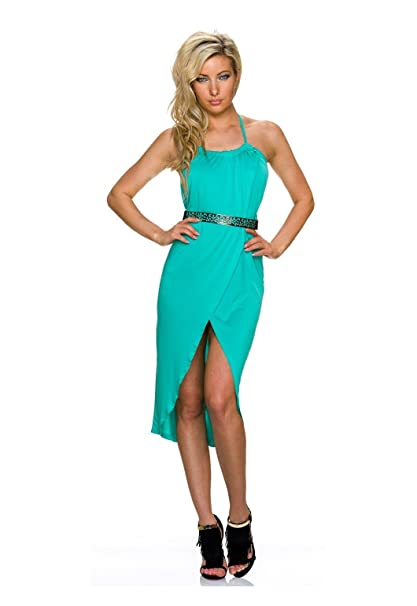 Vestido mujer verde agua