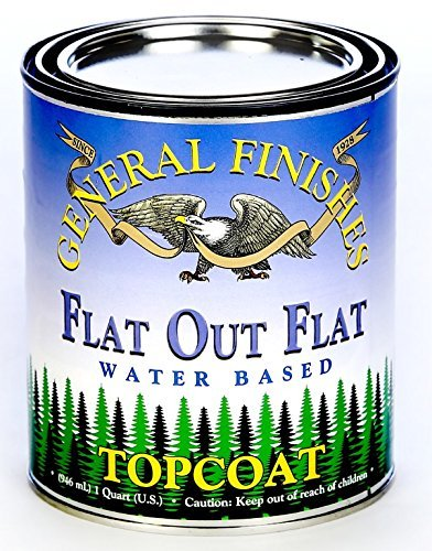 General Finishes Flat Out Flat Topcoat, Quart (Amy Howard One Step Paint)