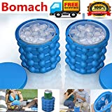 Bomach Ice Cube Maker Genie,Revolutionary Space Saving Ice Ball Maker Bucket Party Drink Tub Silicone Trays Mold Kitchen Tools for Chilling Burbon Whiskey,Cocktail,Beverages and More