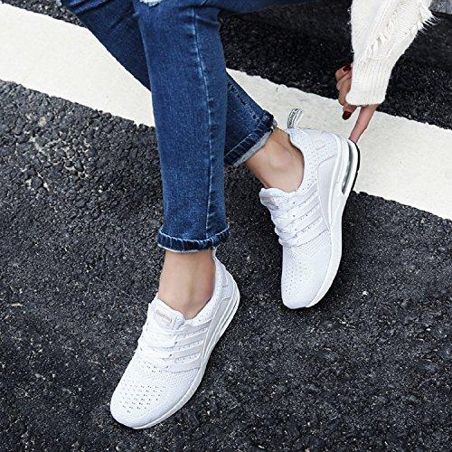 Sportschuhe Herren Laufschuhe Damen Weiß tqgold Fitness Gym Turnschuhe Leichte Schuhe Sneakers Bequem Atmungsaktives 4wq1ExUHdE