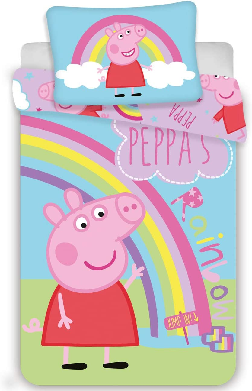 Peppa Pig PP191035 Baby Bedding Childrens Bed Linen 100 x 135 cm