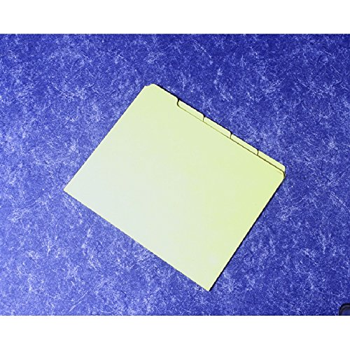 Pressboard Card Guides - Card Set, Guide, File, Pressboard, 1/5 Cut, Light Green, 8-1/2