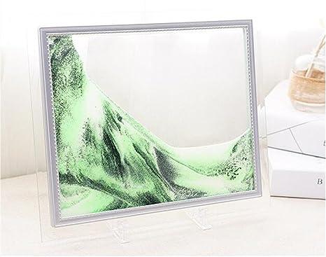 Amazon.com: SUNYU® 7 inch Relieve Stress Green Stream Sand Painting ...
