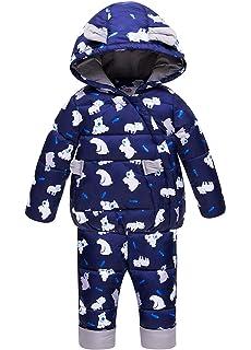 4864e7056 Unisex Baby Toddler Winter Snowsuit Ski Snowpants Bib Down Coat ...