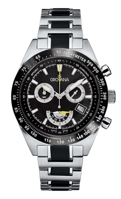 GROVANAGROVANA Herren-Armbanduhr 1622.9178 Chronograph edelstahl Silber 1622.9178