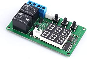 PEMENOL Temperature Controller DC 12V Heating/Cooling Thermostat Control Switch Module -20℃ to + 100℃ Celsius Temp Display Board with Dual Relay Waterproof Sensor Probe for Brewing Ferment Greenhouse