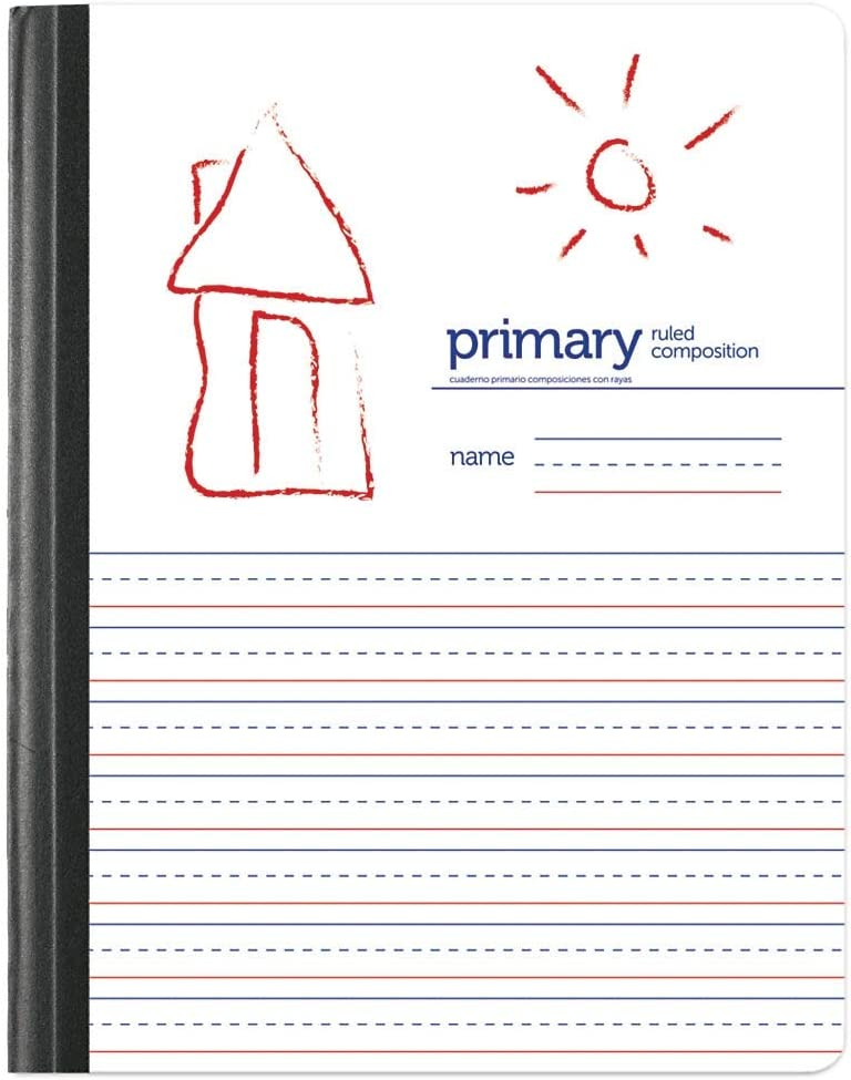 Handwriting Practice Primary Composition Book, Primary Ruled/Unruled 80 Sheets