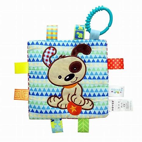 Havil - 1 pieza de suave etiqueta multicolor etiqueta bebé juguete, toalla de gamuza,