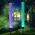 Outdoor Solar Garden Stake Lights,Wohome 2pcs Solar Acrylic Bubble RGB Color, Solar Landscape Lighting Light for Garden, Patio?Yard Decoration