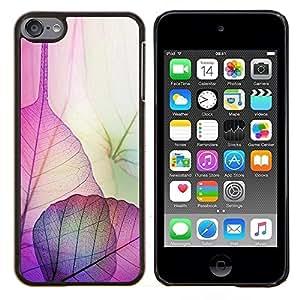 LECELL--Funda protectora / Cubierta / Piel For Apple iPod Touch 6 6th Touch6 -- Hojas florales caída del otoño de la naturaleza --