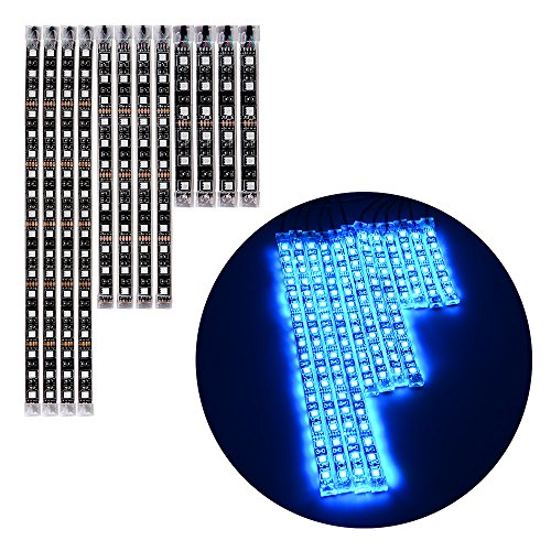 Price comparison product image 12pcs RGB LED Motorcycle Light Flexible Strip Kit With Remote Control Universal Motorcycle