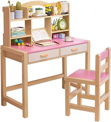 L.Z Mesa de Escritorio para niños de Madera para niños, con ...