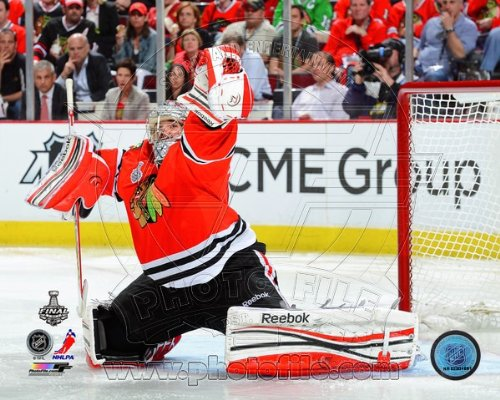 Corey Crawford Chicago Blackhawks 2013 Stanley Cup Finals Game 1 Photo #2 8x10