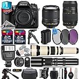 Holiday Saving Bundle for D7200 DSLR Camera + 650-1300mm Telephoto Lens + 18-105mm VR Lens + Tamron 70-300mm Di LD Lens + 500mm Telephoto Lens + 2 Of 32GB Card - International Version