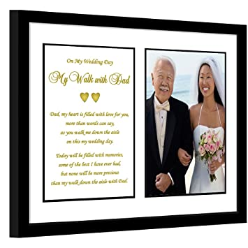 Amazoncom Poetry Gifts My Walk With Dad Wedding Gift For Father