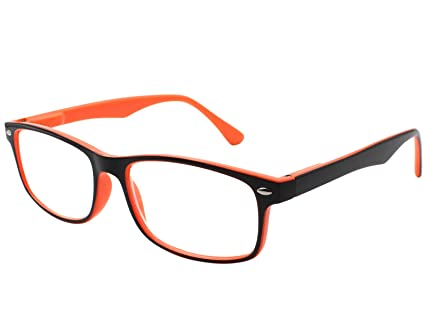 cbdcbbc879 TBOC Gafas de Lectura Presbicia Vista Cansada - Graduadas +2.50 Dioptrías  Montura de Pasta Bicolor Naranja ...