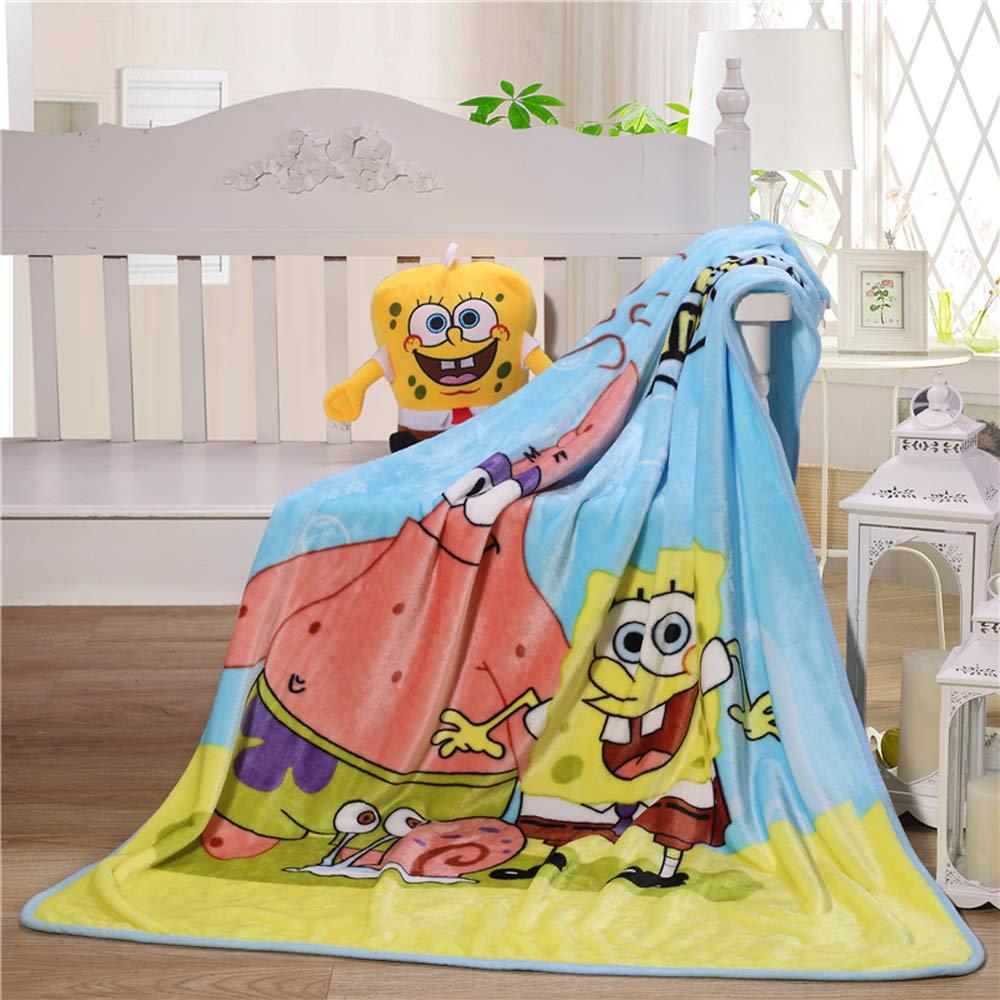 Couch Chair Living Room Throw Blanket Fleece Cartoon Spongebob Printing 56 x 40 Kids Super Plush Soft Warm for Napping Friends